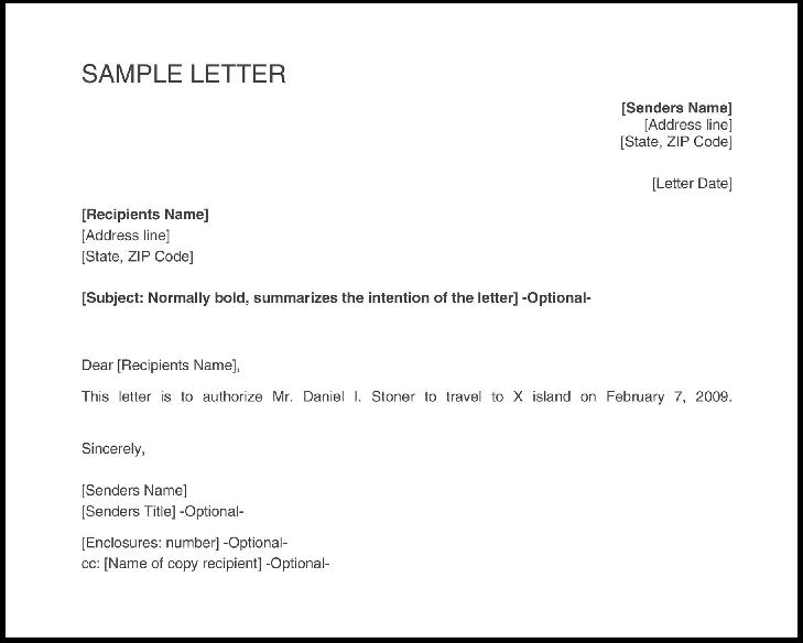 Carta de aprobación de viaje de negocios