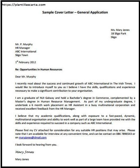 Carta de Solicitud General