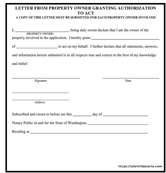 Carta de transferencia de propiedad