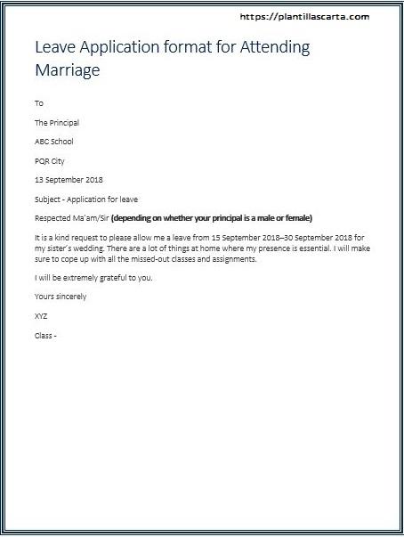 Carta de licencia de matrimonio