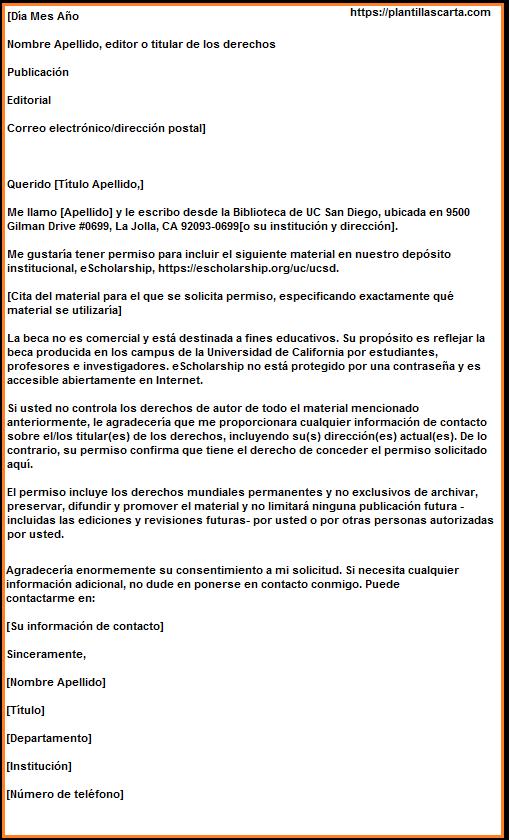 Carta de concesión de permiso