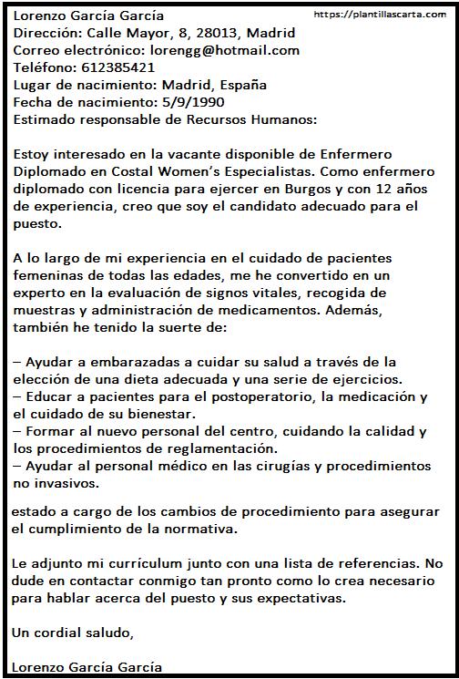 Carta de Aceptación del Trabajo de Enfermería