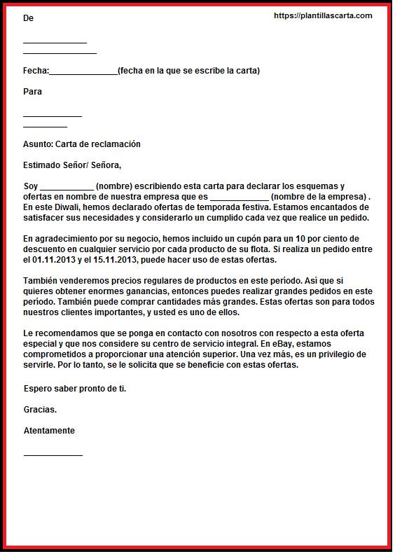 Carta de reclamación