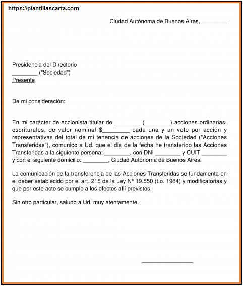 Carta de Acción Legal