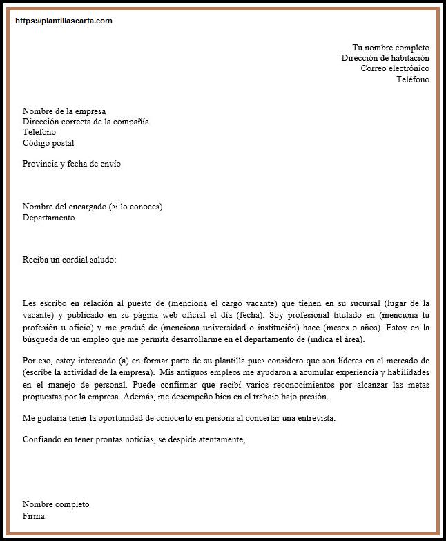 Carta de introducción