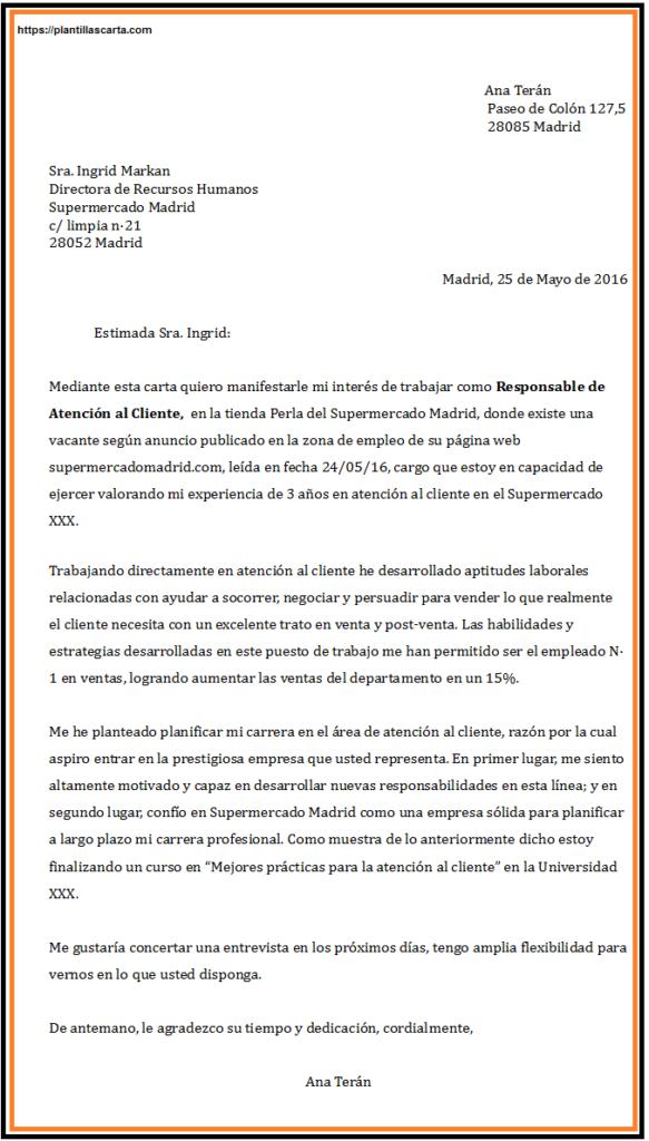 carta de apelación de negocios