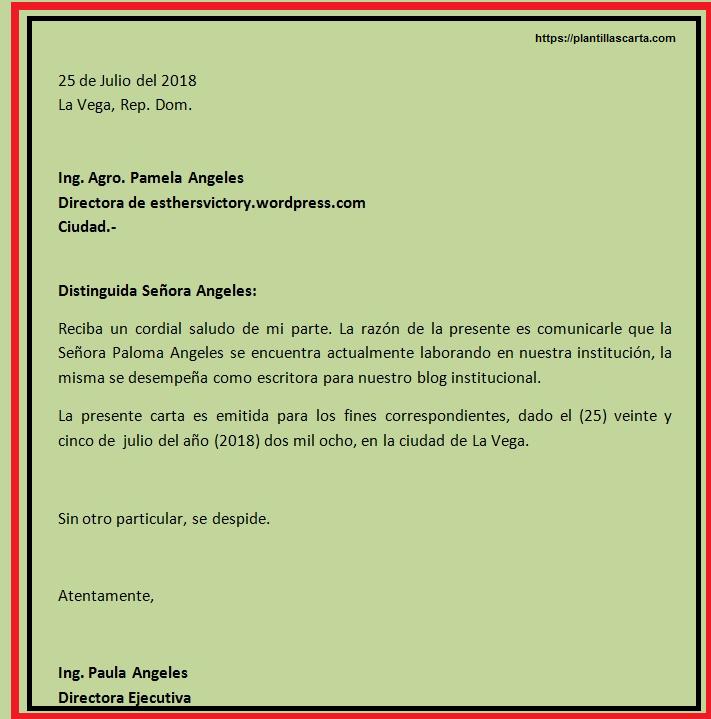 Carta de cierre del negocio