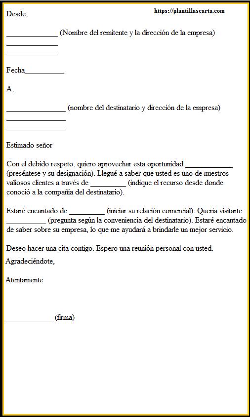 Carta de auto introducción