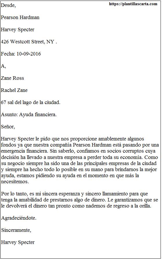 Carta de apelación de ayuda financiera
