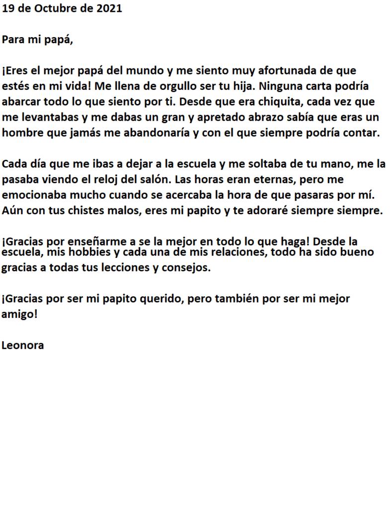carta para papa